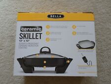 "Bella - 12"" Ceramic Electric Skillet - Black/Ceramic - Model - BLA14448"