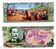 Costa Rica Billet 5 Colones 1992 P236 FLEURS YGLESIAS CASTRO PORT NEUF UNC