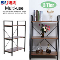 3 Tier Wood Bookcase Wall Shelf Ladder Bookshelf Storage Display Rack Furniture