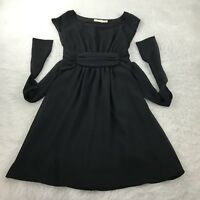 Urban Outfitters Pins and Needles Size Medium Black Sheer Overlay A-Line Dress