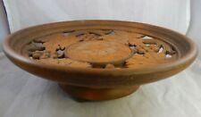 Vtg Musical Bowl Wood Hand Made Footed Weggiserlied Schweizerlandler Switzerland