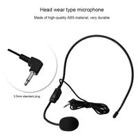 Mini 3.5mm Head-mounted Wired Headset Microphone MIC for Voice Amplifier Speaker