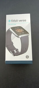 Fitbit Versa Lite Edition Smart Watch FB415SRGY - Charcoal Band Silver Case