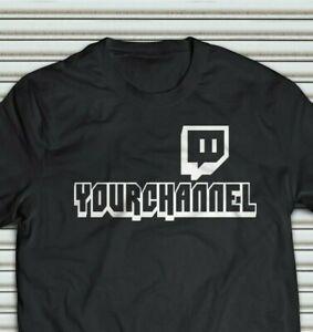 Streamer Custom TWITCH TV YOUR CUSTOM CHANNEL T-shirt (S-5XL)