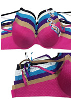 #AD171 New 6 Womens Ladies Plain Solid Color Demi Gentle PUSH UP Bra Full Cup