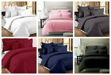 100%Cotton Luxury Soft Silky 3 Piece Satin Stripe Duvet/Quilt cover set EU