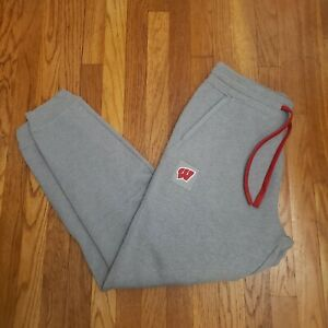 Under Armour Wisconsin Badgers Football Campus Fleece Sideline Joggers Size L