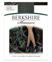 Berkshire Shimmers Control Top Pantyhose Hosiery - Women's Black Size 4