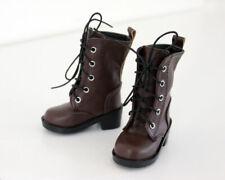 1/4 bjd Myou Kate Wiggs msd boy doll brown combat boots shoes dollfie