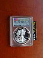 2016 W PROOF SILVER EAGLE PCGS PR70 DCAM FLAG FIRST DAY OF ISSUE 1 OF 1500