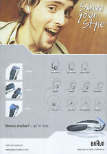 Braun Cruzer3 Shaver 2005 Double Sided Magazine Advert #704