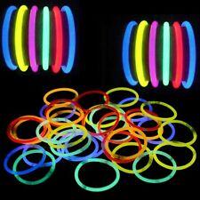 Pulseras luminosas pack 50 ud fluorescentes para fiestas neon Led varios colores