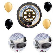 Boston Bruins 7 Piece Balloon Bouquet Birthday Party Decorations Hockey