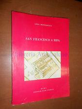 A.MENICHELLA - SAN FRANCESCO A RIPA - ROMA, EDIZIONI RARI NANTES - 1981