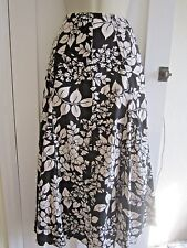 Ladies size 10 E-vie black with white floral long skirt