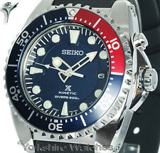 NEW SEIKO KINETIC 200Mtr PROSPEX DIVERS With RUBBER BUCKLE STRAP SKA369P2