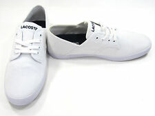 LaCoste Shoes Andover Low Canvas White Sneakers Size 7.5 EUR 40
