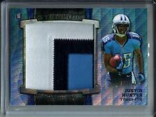 Justin Hunter 2013 Bowman Sterling Jumbo Game Used Jersey Patch #002/171
