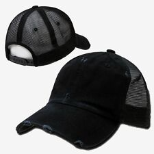Black Vintage Mesh 80s Snapback Snap Back Trucker Vtg Baseball Cap Caps Hat Hats