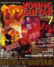Young Guitar Jul/98 SLAYER Metallica Judas Priest JOHN SYKES Schenker Yngwie UFO