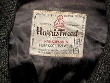 VTG AUTHENTIC REGISTERED NUMBERED HARRIS TWEED SCOTTISH SOFT WOOL TOP COAT- S