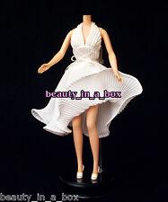 Marilyn Monroe Classic Iconic White Dress Barbie Doll Fashion Sex Symbol
