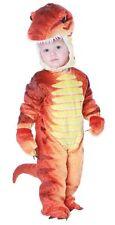 CHILDRENS UNISEX CUTE PLUSH T REX DINOSAUR TODDLERS JUMPSUIT COSTUME - 2T/4T