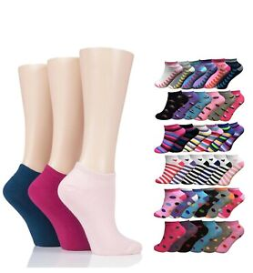 1x to 12x Pack 100% Cotton Ladies Womens Girls Trainer Socks Ankle Sports Socks