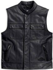Harley-Davidson Men's Foster Reflective Leather Vest 98090-15VM - Size 2X‼ 🏍👍