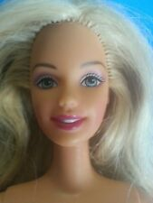 Straight Blonde Hair Blue Eyes Articulated Elbows Barbie Doll - Nude