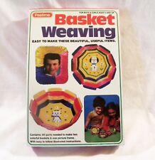 Vintage NEW 1981 Pastime BASKET WEAVING Child's Activity Kit SEALED