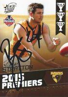 2014 AFL PREMIERSHIP BACK TO BACK HAWTHORN CARD PC18 BEN STRATTON