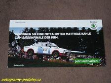Matthias KAHLE - SKODA 130 RS, 2015 EIFEL Festival promo, Karte/card 12x23 cm