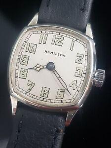 Vintage Hamilton Art Deco 1926 Cushion Case. 986A Very Nice Dial