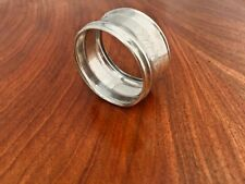 American Coin Silver Napkin Ring: Circular with Decorative Band