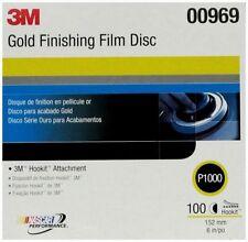 """3M 00969 Hookit 6"""" Gold Finishing Film Disc, P1000 Grit (Box of 100)"""