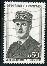 STAMP / TIMBRE FRANCE OBLITERE N° 1695 GENERAL DE GAULLE