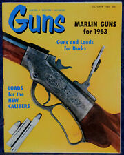 Vintage Magazine *GUNS*, October 1963 ! VAN KARNER Multiple Barrel Gas PISTOL !