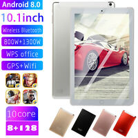 10.1 inch 8GB+128GB Tablet PC 4G-LTE IPS HD Screen Dual Card Phablet Ten Cores