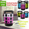 2/3/4 Layer Vertical Tower Socket USB Port Smart Charger Protector Power Strip