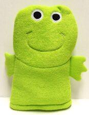 FROG Bath Puppet - Cute Froggy Bath Mitt Washcloth - Green Frog - New