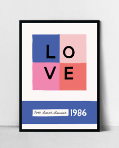 YSL 1986 Love Poster, Home Decor