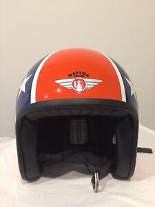 Davida 'classic jet' motorcycle helmet
