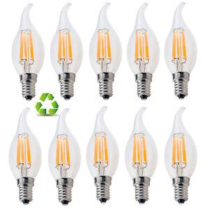 C35 Retro E12 E14 Dimmable 2W 4W 6W LED Filament Candle Bulb Edison Light Lamp