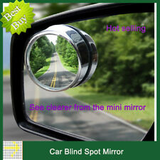 2Pcs Auto Car rear view Mirror Adjustable Side Rearview Blind Spot Wide-angle