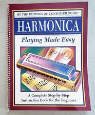 1994 Pub. Ltd., Harmonica Playing Made Easy Instructional Book For Beginners, Vg