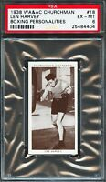 PSA 6 1938 WA&AC CHURCHMAN #18 LEN HARVEY BOXING PERSONALITIES