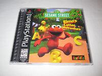 Elmo's Letter Adventure (PlayStation PS1) Black Label Complete Excellent!