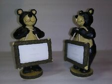 "(2)  Bear Standing Photo Frames ~ 6.5"" ~ Hanging Photo Mini Sign/place card"