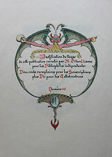Anatole France Léon Lebègue Octave Uzanne La Leçon bien apprise 1898  1/210 ex.